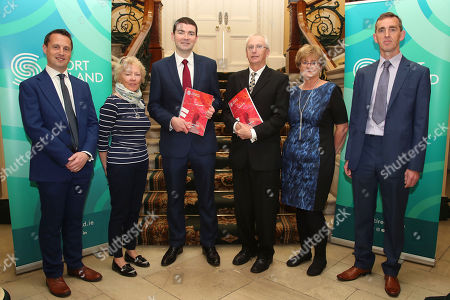 Pictured today (L-R) Kieran O'Leary, Ipsos MRBI, Francis Kavanagh, Sport Ireland, Brendan Griffin, Minister of State at the Department of Transport, Tourism and Sport, John Treacy, CEO of Sport Ireland, Caroline Murphy, Sport Ireland and Peter Smith, Sport Ireland