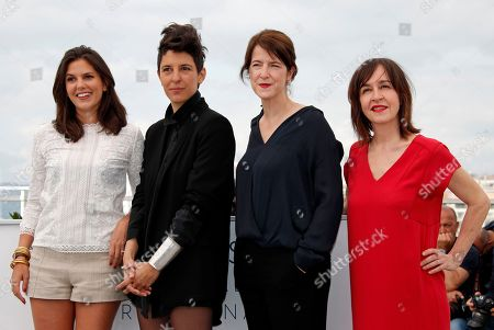 (L-R) Iris Brey, Marie Amachoukeli,  Ursula Meier and Jeanne Lapoirie pose during the Camera D'or Jury Photocall at the 71st annual Cannes Film Festival, in Cannes, France, 10 May 2018. The festival runs from 08 to 19 May.