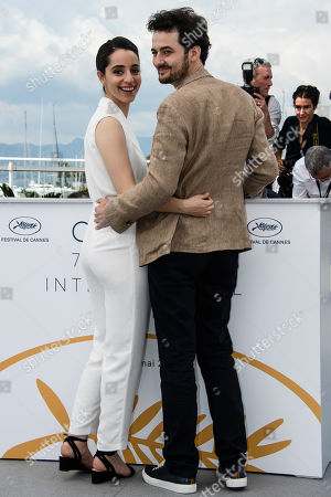 Egyptian director A.B Shawky (R) and producer Elisabeth Shawky-Arneitz pose during the photocall for 'Yomeddine' at the 71st annual Cannes Film Festival, in Cannes, France, 10 May 2018. The movie is presented in the Official Competition of the festival which runs from 08 to 19 May.