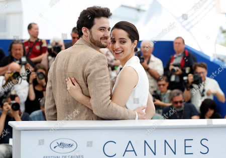 Egyptian director A.B Shawky and producer Elisabeth Shawky-Arneitz poses during the photocall for 'Yomeddine' at the 71st annual Cannes Film Festival, in Cannes, France, 10 May 2018. The movie is presented in the Official Competition of the festival which runs from 08 to 19 May.