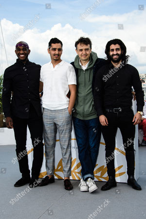 (L-R) French actor Elis Gardiole, French actor Sidi Mejai, French director Antoine Desrosiers and French actor Mehdi Dahmane pose during the photocall for 'Sextape (A Genoux Les Gars)' at the 71st annual Cannes Film Festival, in Cannes, France, 10 May 2018. The movie is presented in the section Un Certain Regard of the festival which runs from 08 to 19 May.