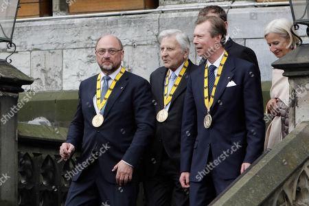Olaf Scholz, Jean-Claude Trichet, Grand Duke Henri of Luxembourg
