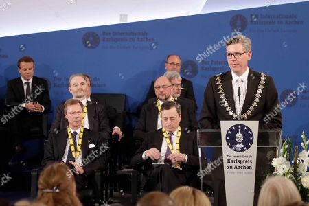 Emmanuel Macron, Timothy Garton Ash, Martin Schulz, Grand Duke Henri of Luxembourg, Mario Draghi, Marcel Philipp