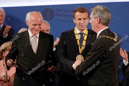 Juergen Linden, Emmanuel Macron, Marcel Philipp