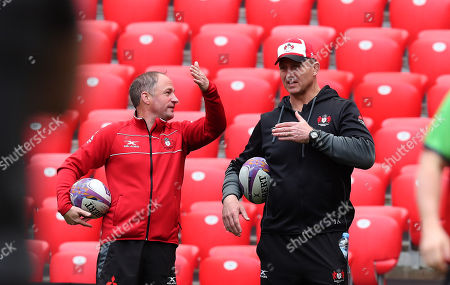 Director of Rugby David Humphreys with head coach Johan Ackermann