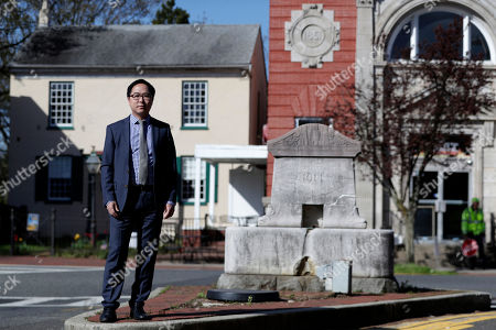 Andy Kim poses for a portrait in Bordentown, N.J. Kim, a Democrat who grew up in Marlton, N.J., is running for Congress, against Republican U.S. Rep. Tom MacArthur, a Trump supporter who helped revive the repeal of the Affordable Care Act