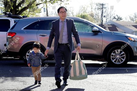 Andy Kim, Austin Kim. Andy Kim walks his 2-year-old son, Austin Kim, to school in Bordentown, N.J. Kim, a Democrat who grew up in Marlton, N.J., is running for Congress, against Republican U.S. Rep. Tom MacArthur, a Trump supporter who helped revive the repeal of the Affordable Care Act