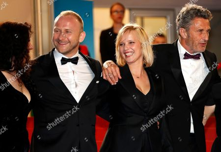 (L-R) Tanya Seghatchian, Borys Szyc, Joanna Kulig and director Pawel Pawlikowski arrive for the screening of 'Cold War' during the 71st annual Cannes Film Festival, in Cannes, France, 10 May 2018. arrives for the screening of 'Cold War' during the 71st annual Cannes Film Festival, in Cannes, France, 10 May 2018. The movie is presented in the Official Competition of the festival which runs from 08 to 19 May.