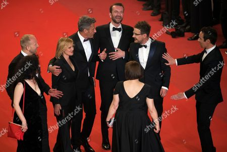 Ewa Puszczynska, Tomasz Kot director Pawel Pawlikowski, Joanna Kulig,  Borys Szyc and Tanya Seghatchian,  and guest arrive for the screening of 'Cold War' during the 71st annual Cannes Film Festival, in Cannes, France, 10 May 2018. arrives for the screening of 'Cold War' during the 71st annual Cannes Film Festival, in Cannes, France, 10 May 2018. The movie is presented in the Official Competition of the festival which runs from 08 to 19 May.