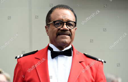 """Ted Lange, an original cast member in the television series """"The Love Boat,"""" is pictured at a Friends of Hollywood Walk of Fame honorary star plaque ceremony for the cast and Princess Cruises, in Los Angeles"""