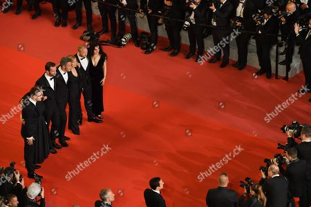(L-R) Guest, Ewa Puszczynska, Tomasz Kot director Pawel Pawlikowski, Joanna Kulig, Borys Szyc and Tanya Seghatchian, and guest arrive for the screening of 'Cold War' during the 71st annual Cannes Film Festival, in Cannes, France, 10 May 2018. The movie is presented in the Official Competition of the festival which runs from 08 to 19 May.