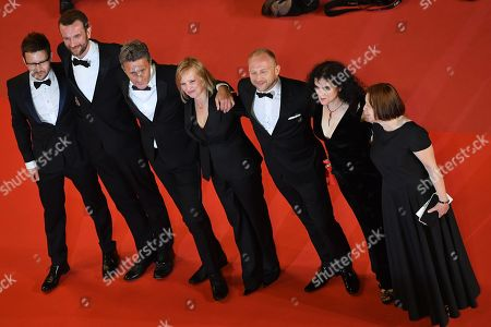 (L-R) Cinematographer Lukasz Zal, Polish actor Tomasz Kot, Polish director Pawel Pawlikowski, Polish actress Joanna Kulig, Polish actor Borys Szyc, producers Tanya Seghatchian and Ewa Puszczynska  arrive for the screening of 'Cold War' during the 71st annual Cannes Film Festival, in Cannes, France, 10 May 2018. The movie is presented in the Official Competition of the festival which runs from 08 to 19 May.