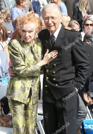 "Jeraldine Saunders, Bernie Kopell. Jeraldine Saunders, left, and Bernie Kopell attend the ceremony honoring Princess Cruises and the original cast of ""The Love Boat"" with a honorary star plaque at the Hollywood Walk of Fame on in Los Angeles"