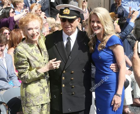 "Jeraldine Saunders, Bernie Kopell, Jan Swartz. Jeraldine Saunders, from left, Bernie Kopell and Jan Swartz, President of Princess Cruises, attend the ceremony honoring Princess Cruises and the original cast of ""The Love Boat"" with a honorary star plaque at the Hollywood Walk of Fame on in Los Angeles"