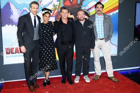 Stock Photo of Ryan Reynolds, Zazie Beetz, Josh Brolin, Eddie Marsden and Rob Delaney
