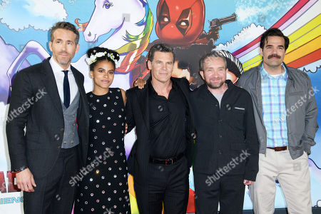 Stock Picture of Ryan Reynolds, Zazie Beetz, Josh Brolin, Eddie Marsden and Rob Delaney