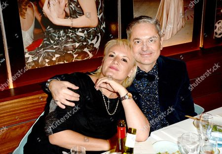 Stock Photo of Caroline Shapiro (L) with guest