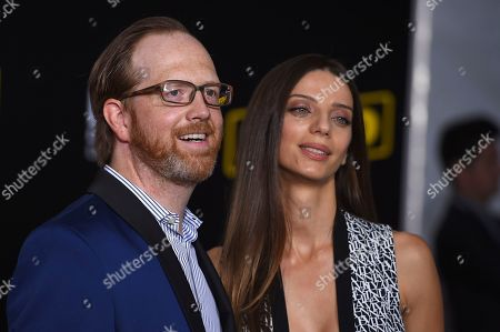"Ptolemy Slocum, Angela Sarafyan. Ptolemy Slocum and Angela Sarafyan arrive at the premiere of ""Solo: A Star Wars Story"" at El Capitan Theatre, in Los Angeles"