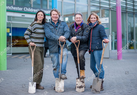 Alan Titchmarsh with his team Frances Tophill, David Domoney and Katie Rushworth