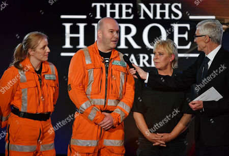 Emergency Lifesaver Award: Richard Hammond and Katie Piper present the award to members of The London Air Ambulance Emergency Lifesaver. James Lafferty, Sherridan Best, Caroline Appleby and Vidar Magnusson were the first on scene when in March 2011 five-year-old Thusha Kamaleswaran was shot in her uncle's shop. The team had to perform delicate emergency surgery on her while she lay in the street in South London.