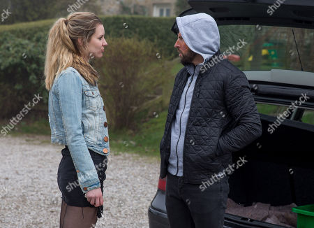 Ep 8145 Thursday 10th May 2018 - 1st Ep Dawn, as played by Olivia Bromley, asks Ross Barton, as played by Michael Parr, for drugs and he asks her for information on Simon.