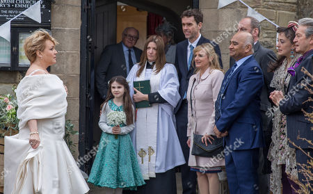 Stock Photo of Ep 8145 Thursday 10th May 2018 - 1st Ep Brenda Walker, as played by Lesley Dunlop, arrives at the church to discover Bob is nowhere to be found....