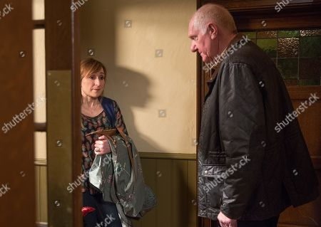 Ep 8144 Wednesday 9th May 2018  Doug Potts, as played by Duncan Preston, tries to persuade Laurel Thomas, as played by Charlotte Bellamy, to admit her feelings to Bob before it's too late...