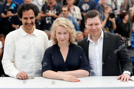 Iranian director Ali Abbasi, Swedish actress Eva Melander (C) and Finish actor Eero Milonoff poses during the photocall for Grans at the 71st annual Cannes Film Festival, in Cannes, France, 11 May 2018. The movie is presented in the section Un Certain Regard of the festival which runs from 08 to 19 May.