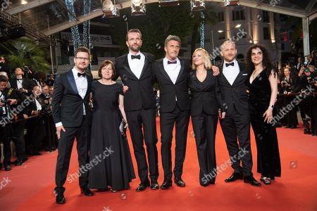 Cinematographer Lukasz Zal Producer Ewa Puszczynska, actor Tomasz Kot, director Pawel Pawlikowski, actress Joanna Kulig, actor Borys Szyc and producer Tanya Seghatchian