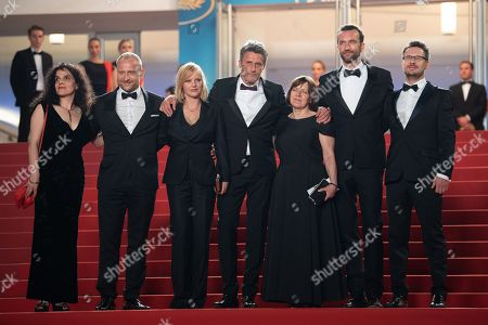 Producers Tanya Seghatchian, Ewa Puszczynska, actors Borys Szyc, Joanna Kulig, director Pawel Pawlikowski, cinematographer Lukasz Zal and actor Tomasz Kot