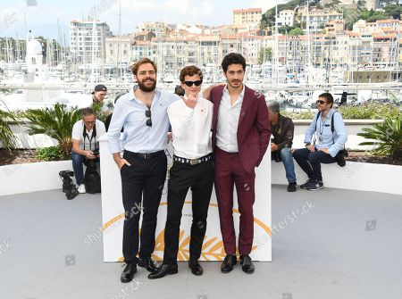 Peter Lanzani, Lorenzo Ferro and Chino Darin. Actors Peter Lanzani, from left, Lorenzo Ferro and Chino Darin pose for photographers during a photo call for the film 'El Angel' at the 71st international film festival, Cannes, southern France