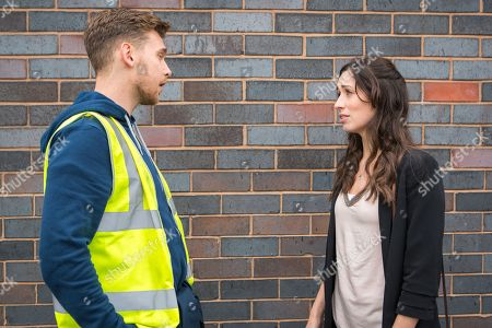 Ep 9463 Wednesday 23 May 2018 - 1st Ep Shona Ramsey, as played by Julia Goulding, dupes Josh's old work colleague, Dec, as played by Josh Harper, into meeting up. When she pushes him for answers, Shona is horrified to realise that Josh raped Dec too. Refusing to discuss it further, Dec hurries away.