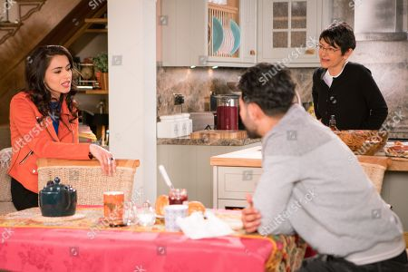 Ep 9457 Wednesday 16 May 2018 - 1st Ep When Rana Nazir, as played by Bhavna Limbachia, offers to work a shift at Speed Dhal, Zeedan Nazir's, as played by Qasim Akhtar, pleased whilst Yasmeen Nazir, as played by Shelley King, worries that he's getting his hopes up.