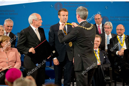 Angela Merkel, Juergem Linden, Emmanuel Macron, Marcel Philipp, Martin Schulz
