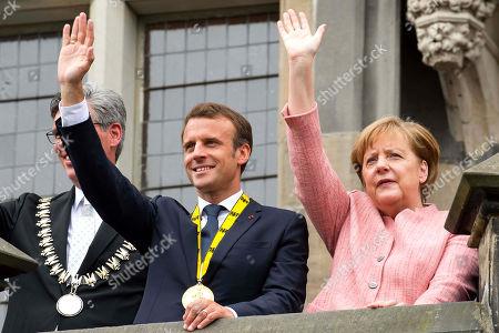 Marcel Philipp, Emmanuel Macron, Angela Merkel
