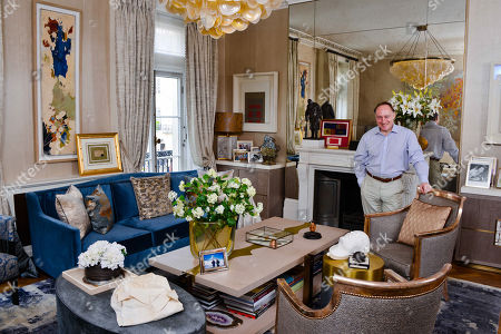 Andrew Roberts at his home