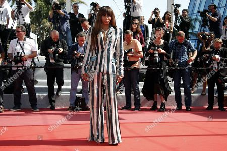 Mia Frye arrives for the screening of The Image Book (Le Livre d'image) during the 71st annual Cannes Film Festival, in Cannes, France, 11 May 2018. The movie is presented in the Official Competition of the festival which runs from 08 to 19 May.