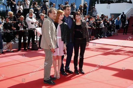 Stock Image of (L-R) L'Oeil D'Or Jury President Emmanuel Finkiel with jury members Lolita Chammah, Paul Sturz and Kim Longinotto arrive for the screening of The Image Book (Le Livre d'image) during the 71st annual Cannes Film Festival, in Cannes, France, 11 May 2018. The movie is presented in the Official Competition of the festival which runs from 08 to 19 May.