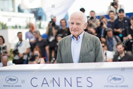 Stock Photo of Director Marin Karmitz poses for photographers at the 71st international film festival, Cannes, southern France