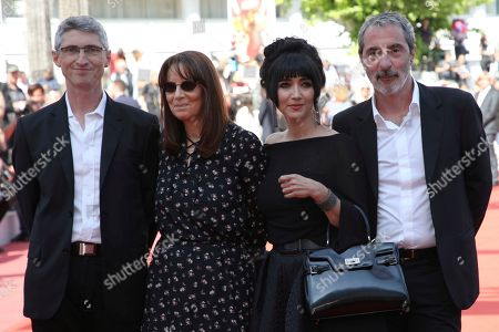 Fabrice Aragno, Nicole Brenez, Mitra Farahani, Jean-Paul Battaggia. Director of photography Fabrice Aragno, from left, producers Nicole Brenez, Mitra Farahani and Jean-Paul Battaggia pose for photographers upon arrival of the film 'The Image Book' at the 71st international film festival, Cannes, southern France