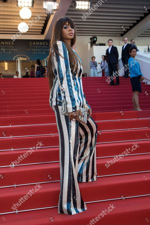 Actress Mia Frye poses for photographers upon arrival at the premiere of the film 'The Image Book' at the 71st international film festival, Cannes, southern France