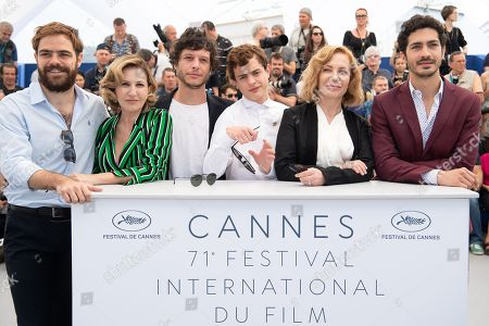 (L-R) Actor Juan Lanzani, actress Mercedes Moran, writer Luis Ortega, actor Lorenzo Ferro, actress Cecilia Roth and actor Chino Darin