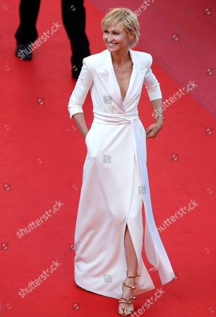 Ingeborga Dapkunaite arrives for the screening of 'Ash Is Purest White' during the 71st annual Cannes Film Festival, in Cannes, France, 11 May 2018. The movie is presented in the Official Competition of the festival which runs from 08 to 19 May.
