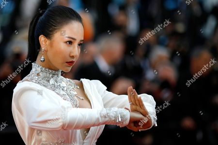 Miya Muqi arrives for the screening of 'Ash Is Purest White' during the 71st annual Cannes Film Festival, in Cannes, France, 11 May 2018. The movie is presented in the Official Competition of the festival which runs from 08 to 19 May.
