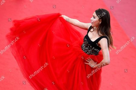 Regina Todorenko arrives for the screening of 'Ash Is Purest White' during the 71st annual Cannes Film Festival, in Cannes, France, 11 May 2018. The movie is presented in the Official Competition of the festival which runs from 08 to 19 May.