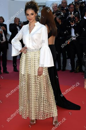 Camille Lavabre arrives for the screening of 'Ash Is Purest White' during the 71st annual Cannes Film Festival, in Cannes, France, 11 May 2018. The movie is presented in the Official Competition of the festival which runs from 08 to 19 May.