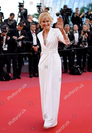 Ingeborga Dapkunaite arrives for the screening of 'Ash Is The Purest White' during the 71st annual Cannes Film Festival, in Cannes, France, 11 May 2018. The movie is presented in the Official Competition of the festival which runs from 08 to 19 May.
