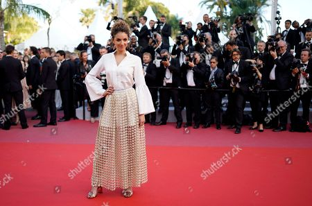 Camille Lavabre arrives for the screening of 'Ash Is The Purest White' during the 71st annual Cannes Film Festival, in Cannes, France, 11 May 2018. The movie is presented in the Official Competition of the festival which runs from 08 to 19 May.