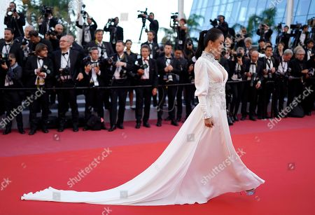 Miya Muqi arrives for the screening of 'Ash Is The Purest White' during the 71st annual Cannes Film Festival, in Cannes, France, 11 May 2018. The movie is presented in the Official Competition of the festival which runs from 08 to 19 May.