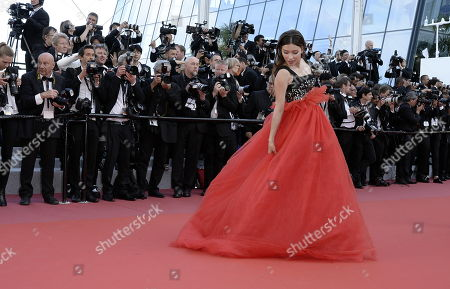 """Editorial photo of CANNES: """"Ash is Purest White (Jiang hu er nv)"""", Premiere, Cannes, France - 11 May 2018"""